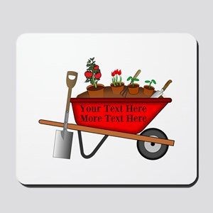 Personalized Red Wheelbarrow Mousepad