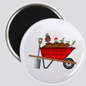 Personalized Red Wheelbarrow Magnet