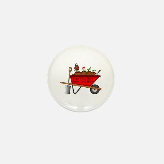 Personalized Red Wheelbarrow Mini Button