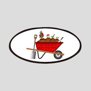 Personalized Red Wheelbarrow Patch