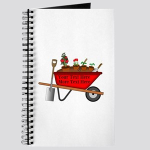 Personalized Red Wheelbarrow Journal