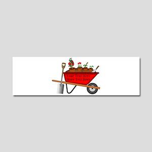 Personalized Red Wheelbarrow Car Magnet 10 x 3
