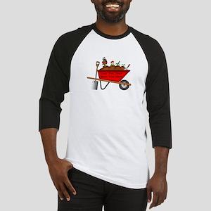 Personalized Red Wheelbarrow Baseball Jersey