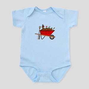 Personalized Red Wheelbarrow Infant Bodysuit