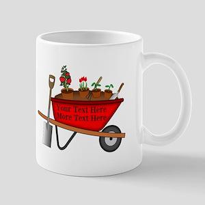 Personalized Red Wheelbarrow Mug