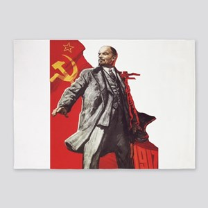 Lenin soviet union propaganda 5'x7'Area Rug