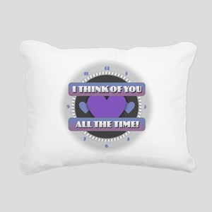 I Think of You All the T Rectangular Canvas Pillow