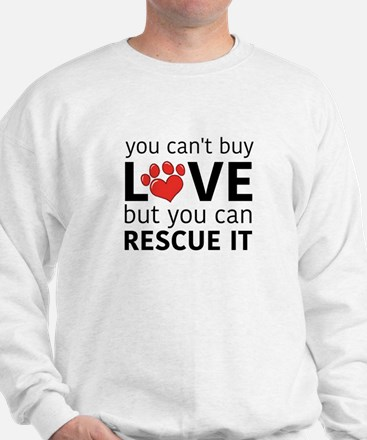 You Can't Buy Love Mens Hoodie Sweater
