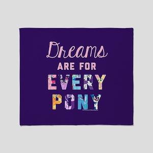 My Little Pony Dreams Every Pony Throw Blanket