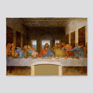The Last Supper Leonardo Da Vinci 5'x7'Area Rug