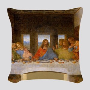 The Last Supper Leonardo Da Vi Woven Throw Pillow
