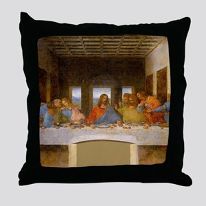 The Last Supper Leonardo Da Vinci Throw Pillow
