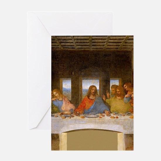 The Last Supper Leonardo Da Vinci Greeting Cards