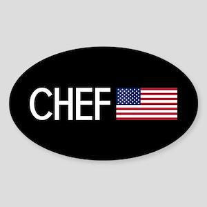 Culinary: Chef (U.S. Flag) Sticker
