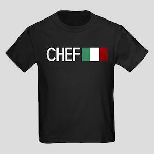 Culinary: Chef (Italian Flag) Kids Dark T-Shirt