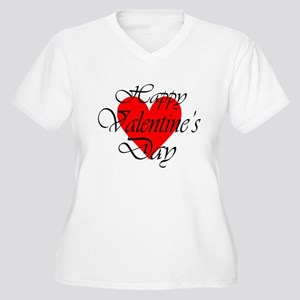 Happy Valentines Day Plus Size T-Shirt