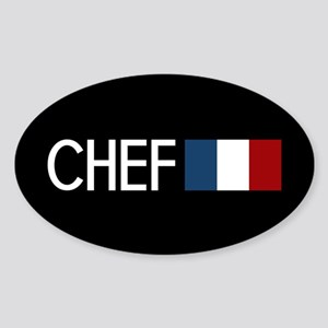 Culinary: Chef (French Flag) Sticker (Oval)