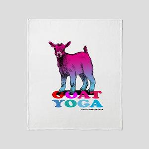 Goat Yoga 2 Throw Blanket