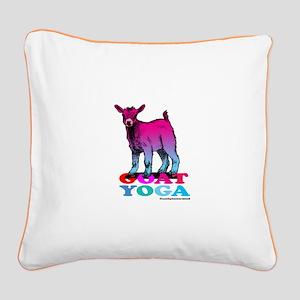 Goat Yoga 2 Square Canvas Pillow