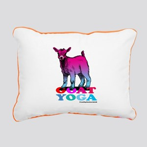 Goat Yoga 2 Rectangular Canvas Pillow