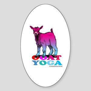 Goat Yoga 2 Sticker (Oval)