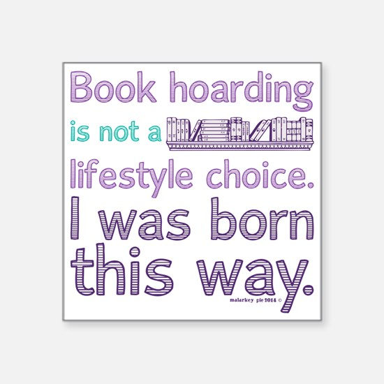 Funny Book Hoarding Lifestyle Sticker