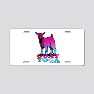 Goat Yoga 2 Aluminum License Plate