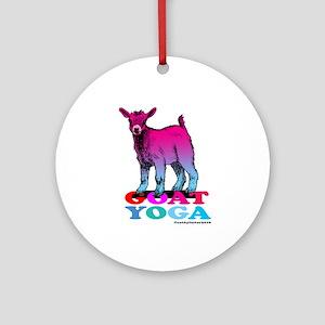 Goat Yoga 2 Round Ornament