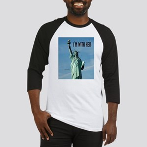 Women's Marches–I'm With Her Lady Baseball Jersey