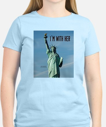 Women's Marches–I'm With Her Women's Light T-Shirt
