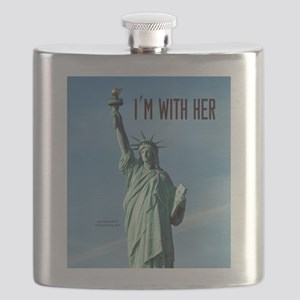 Women's Marches–I'm With Her Lady Liberty Flask