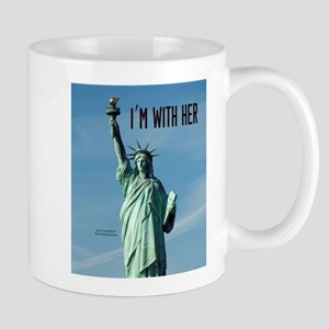 Women's Marches–I'm With Her Lady Liber Mug