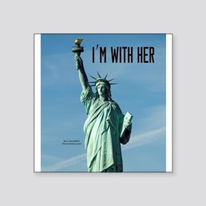 "Women's Marches–I'm With He Square Sticker 3"" x 3"""