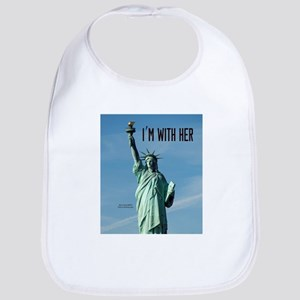 Women's Marches–I'm With Her Lady Liberty Bib