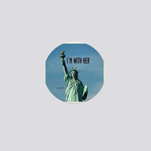Women's Marches–I'm With Her Lady Libe Mini Button