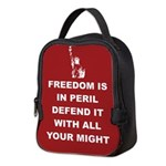 Freedom Is In Peril Neoprene Lunch Bag