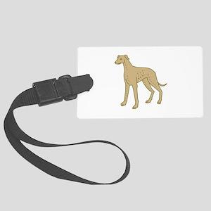 Greyhound Dog Standing Mono Line Luggage Tag