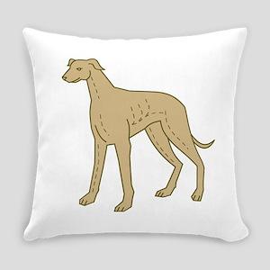 Greyhound Dog Standing Mono Line Everyday Pillow