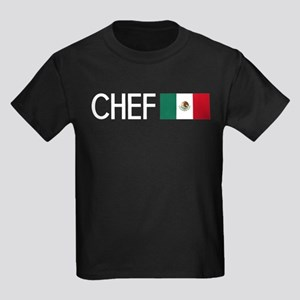 Culinary: Chef (Mexican Flag) Kids Dark T-Shirt