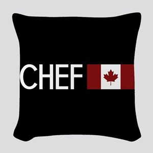 Culinary: Chef (Canadian Flag) Woven Throw Pillow