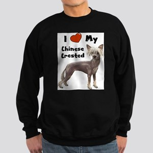 I Love My Chinese Crested Sweatshirt