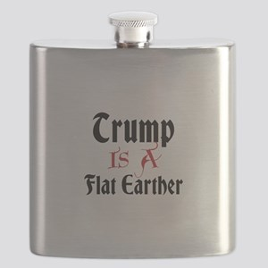 Trump is a flat earther Flask