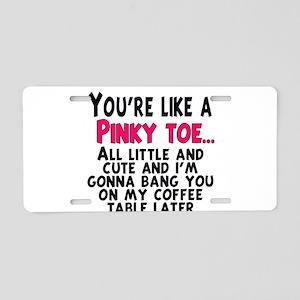 Pinky Toe Aluminum License Plate