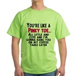 Pinky Toe Green T-Shirt