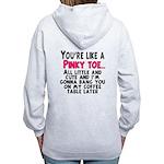 Pinky Toe Women's Zip Hoodie
