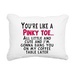 Pinky Toe Rectangular Canvas Pillow