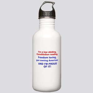 Gun loving American Water Bottle