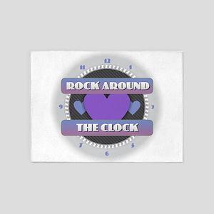 Rock Around the Clock 5'x7'Area Rug