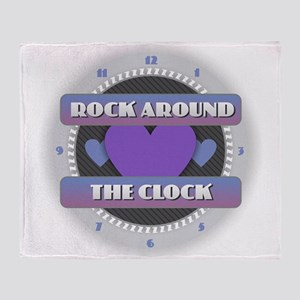 Rock Around the Clock Throw Blanket