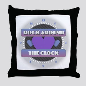 Rock Around the Clock Throw Pillow